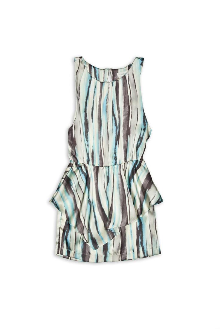 Satin Print Peplum Dress #CostaBlanca $32.50
