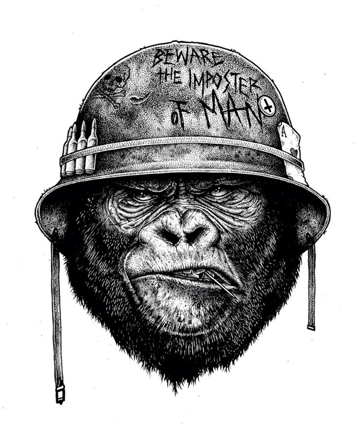 gorilla tattoo idea