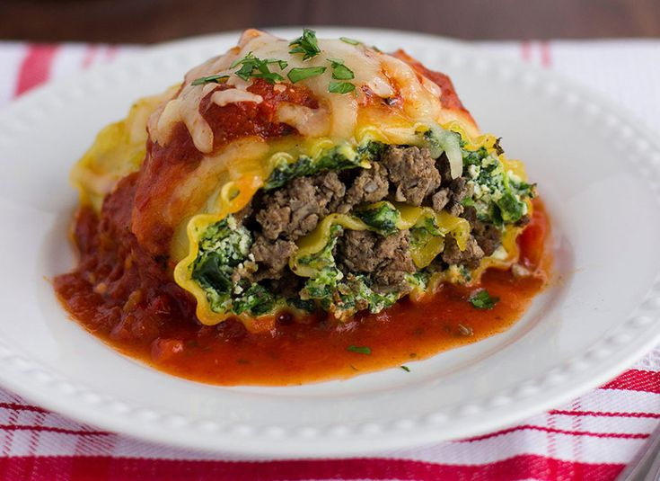 Blended Lasagna Roll Ups