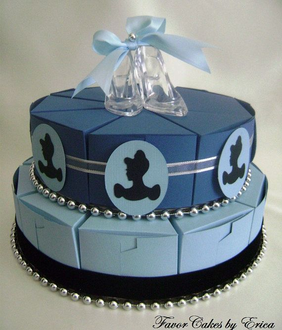 Cinderella cake shape favor boxes