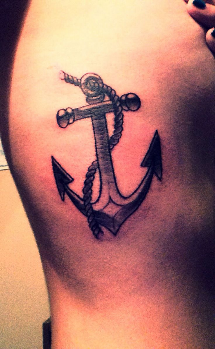 Anchor rib tattoo - Placement..my Anchor ribs tattoo the day I got it. I love Anchors <3
