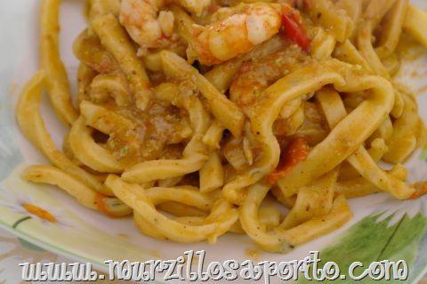 Murzillo Saporito | Scialatielli ai gamberi e pesto di pistacchi