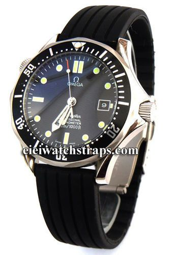 20mm Silicon Rubber Watch strap with Stainless Steel Deployment For Omega Seamaster Professional