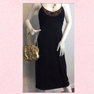 David Meister, black cocktail dress, Sz. 10, beads. Price: $10 Size: 10....https://poshmark.com/listing/David-Meister-black-cocktail-dress-Sz-10-beads-58f42989c28456d75a0f4a0b