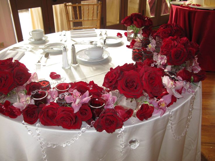 red rose crystals sweetheart tablejpg 16001200 pixels dinner table decorationschristmas table centerpieceschristmas