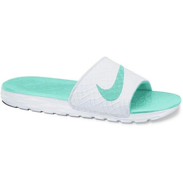 Nike Benassi Women's Solarsoft Slide Sandals, Size: 8, White Teal ($26)