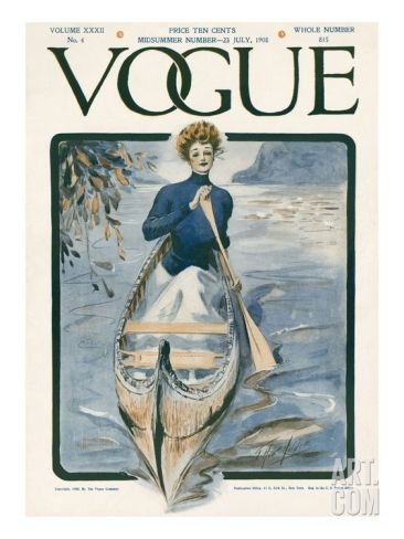 Vogue Cover - July 1908 Regular Giclee Print by G. Howard Hilder at Art.com