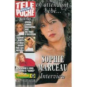 Sophie Marceau : en attendant bébé, dans Télé Poche n°1529 du 29/05/1995 [couverture isolée et article mis en vente par Presse-Mémoire]