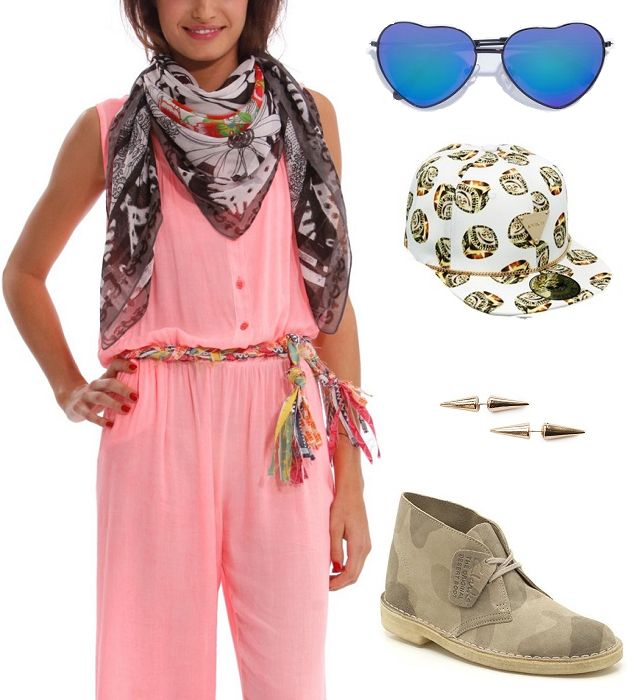 Scarf: Desigual, sunglasses: Zara, hat: Asos, earrings: Mango, shoes: Clarks   Festival Wear - Sziget Budapest Shopping Route http://shoptrotter.com/users/shoptrotters/routes/hm-to-zara-2014-06-26/