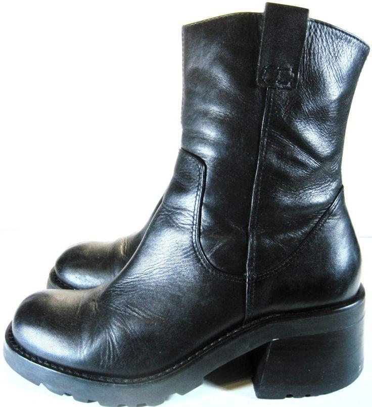 Steve madden women Biker Boots Size 8 B Black.  KAK 22 #SteveMadden #BikerBoots #Casual