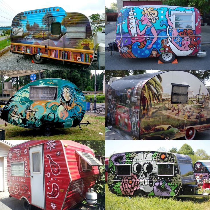 Would You Get A Funky Paint Job Like These On Your Camper