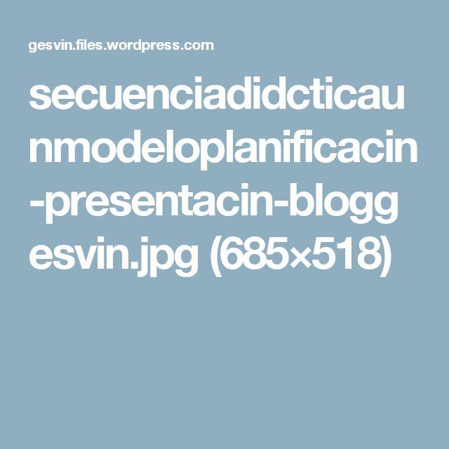 secuenciadidcticaunmodeloplanificacin-presentacin-bloggesvin.jpg (685×518)