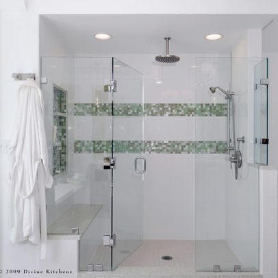 Horizontal Bands And Niche Shower Pinterest Photos