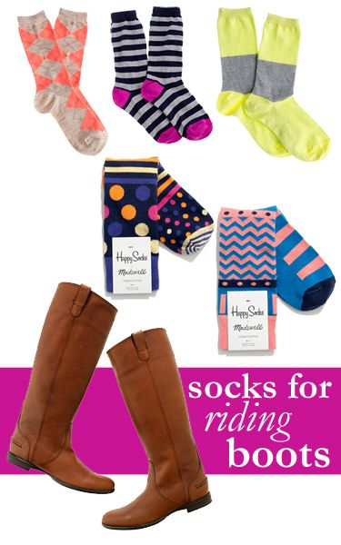 College Prep: Perfect Socks for Boots (riding boots, rain boots, or L.L. Bean style boots!)