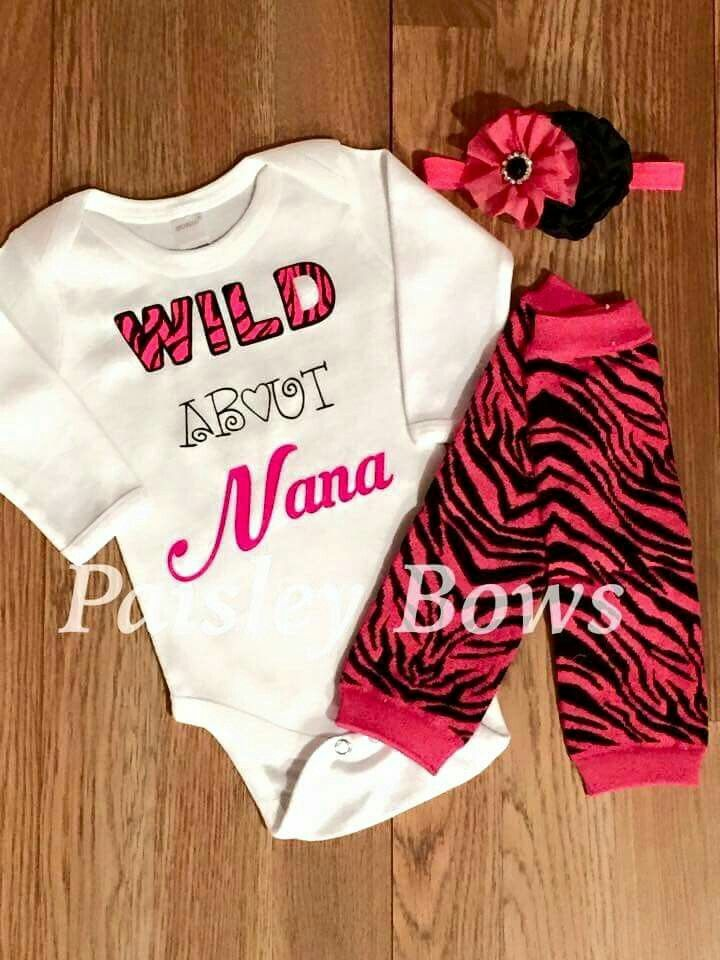 Wild about Nana Baby Girl clothes