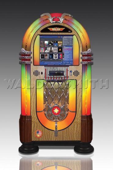 Rock-Ola Bubbler Digital Music Center Jukebox - Walnut