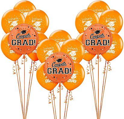 Orange Graduation Balloon Kit