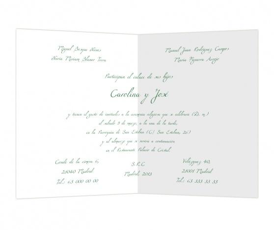 Verde oscuro #invitaciones #boda