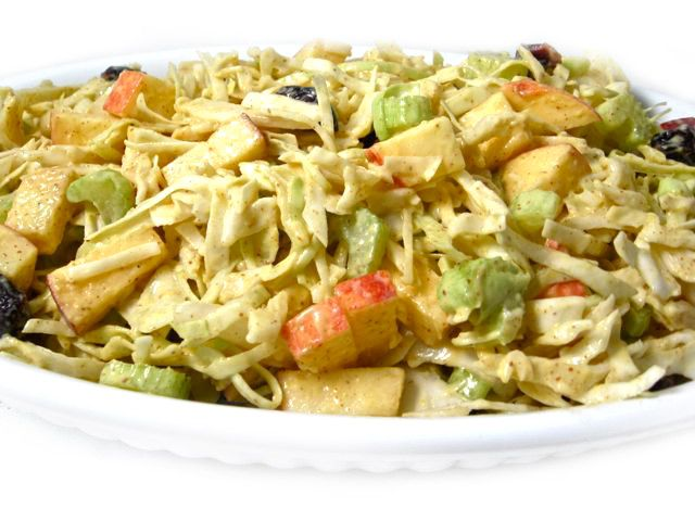 Low point coleslaw with a twist. From skinny kitchen