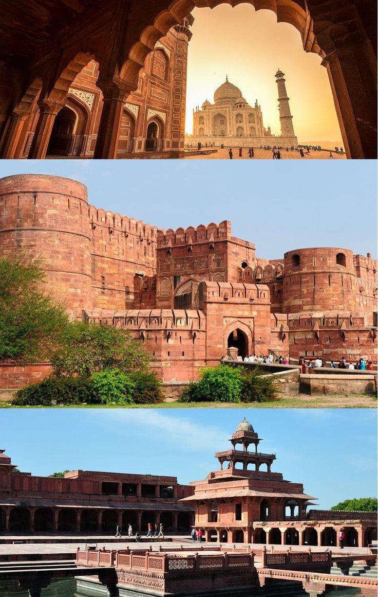 Agra City Tour - Taj Mahal, Agra Fort, Fatehpur Sikri & Mehtab Bagh Sunset http://daytourtajmahal.in/agra-city-tour-by-car