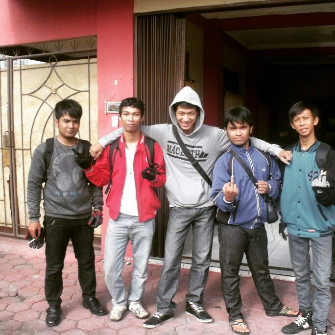 Me and my friends also my home sweet home