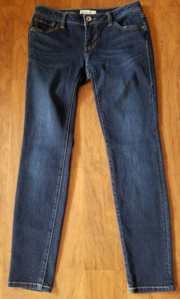 CAbi  Women's Jeans Women's Size 4 Relaxed Dark Straight Skinny Leg Denim 32X30 #CAbi #StraightLeg