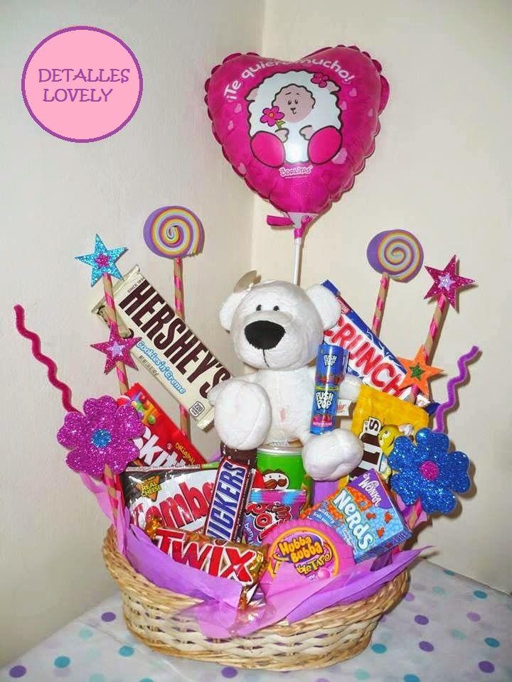 Arreglo de dulces detalle contiene mas de 15 dulces - Detalles de decoracion para casa ...