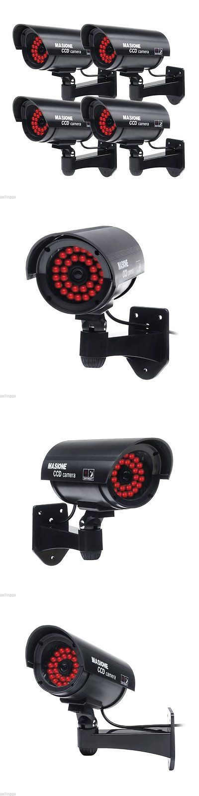 Dummy Cameras: Masione 4 Pack Outdoor Fake Dummy Security Camera With 30 Illuminating Led Lig -> BUY IT NOW ONLY: $31.83 on eBay!