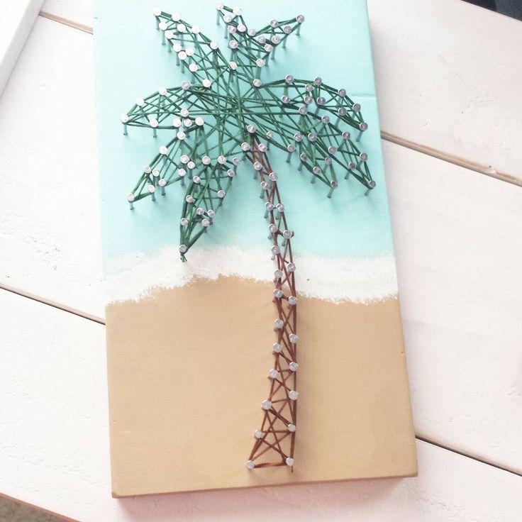 Palm Tree String Art by HelloSunshineHomeDec on Etsy https://www.etsy.com/listing/227581023/palm-tree-string-art