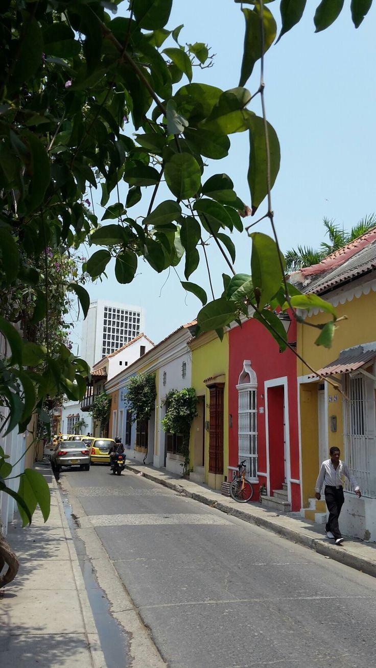 Typisch für #Cartagena : Die bunten Häuser #Kolumbien