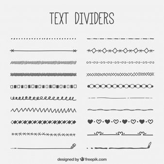 Collection of text retro divider