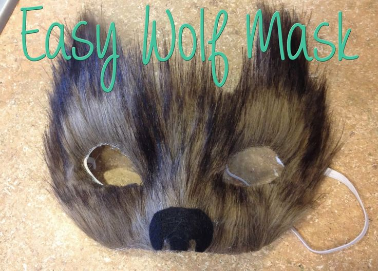 A cheap and easy wolf mask just in time for Halloween!