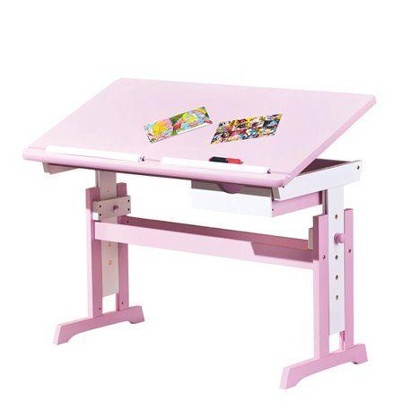 Schreibtisch Cecilia weiss/pink