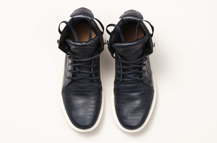 PNTHA Hi Marine by Australian shoe designer FEIT. Find these shoes on www.shoptrawl.com