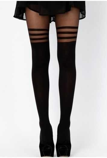 stripe detailed tights.