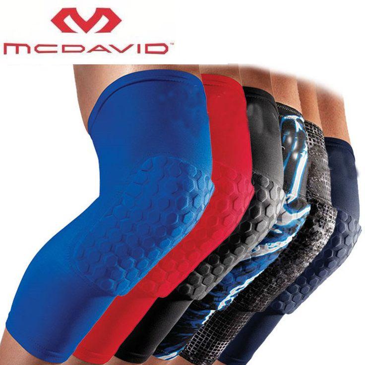 100% Top Mcdavid Famous Brand Basketball Leg Sleeve Breathable Sport Safety Kneepad Honeycomb Pad Bumper Barce Kneelet Protector