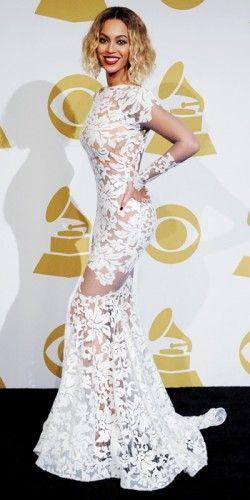Beyonce. Michael Costello. Christian Louboutin. Lorraine Schwartz. #Grammys2014