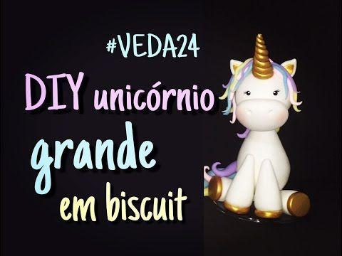 Unicórnio grande de biscuit #VEDA24 - Neuma Gonçalves - YouTube