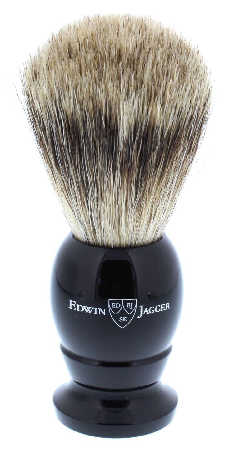 Edwin Jagger Best Badger Shaving Brush, Medium, Black
