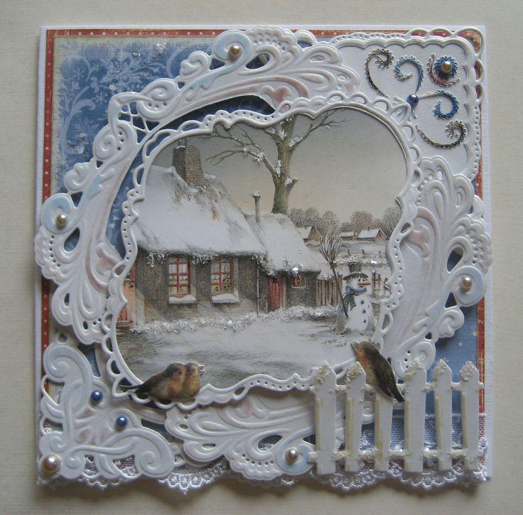 M.K - Deze kaart, Wintersfeer heeft de  2de plaats gehaald, van de 132 inzendingen bij Hobbylournaal.nl