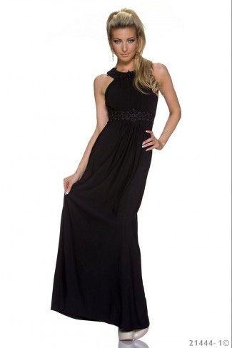 Εντυπωσιακό μάξι φόρεμα - Μαύρο