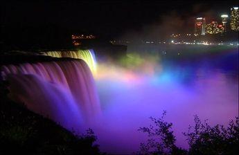 Ниагарский водопад ночью - Путешествуем вместе