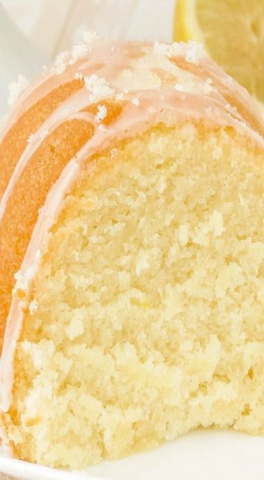 Super Lemon Bundt Cake Recipe ~ This cake is no exception. SO moist, SO soft, SO delicious. It has the most delicate texture and is packed with lemony flavor. The lemon glaze on top really brings this dessert over the top and really packs a big punch of lemony flavor.