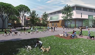 An artist's rendering of the small animal clinic in the proposed new Veterinary Medical Center.