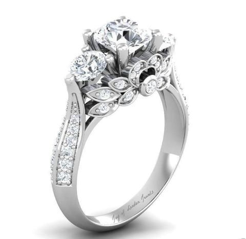 The Knot has listed the TOP 10 Engagement Rings for 2015. #1 is the FLORAL DESIGN j