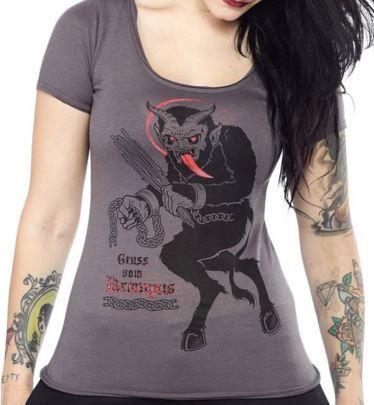 ladies krampus t-shirt