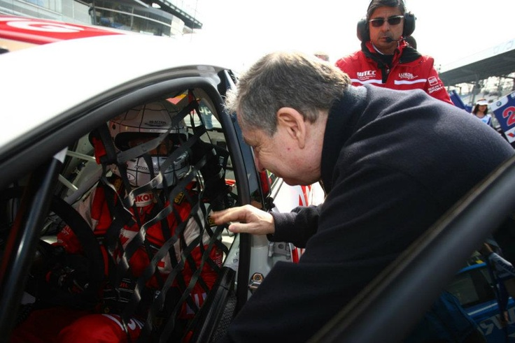 Jean Todt, FIA President with Gabriele Tarquini
