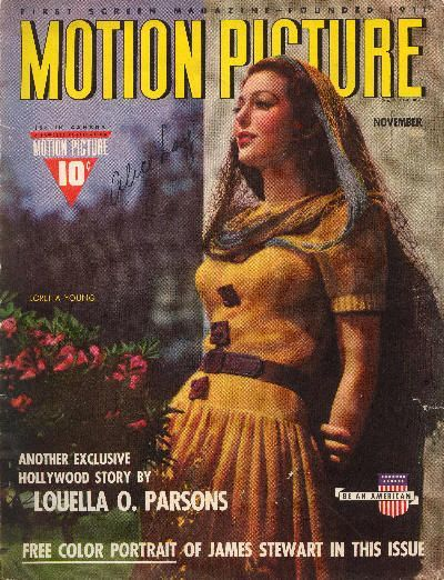 Loretta Young - Motion Picture Magazine [United States] (November 1940)
