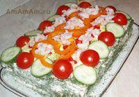 Вкусные рецепты соленых тортов: закусочный торт-салат с рыбными консервами