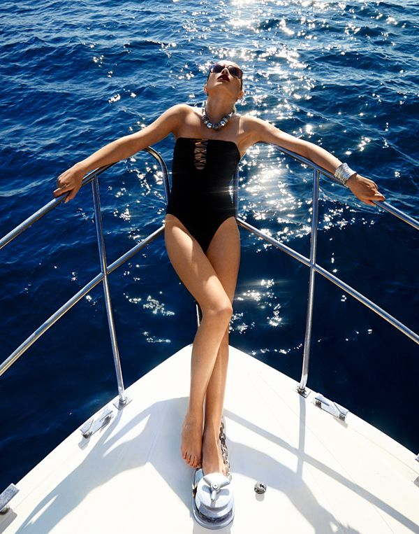 #Boating with a beautiful #woman by Michael David Adams #yacht